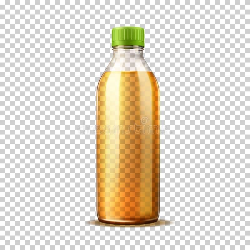Limonadensoda-Glasflasche des Vektors 3d orange vektor abbildung