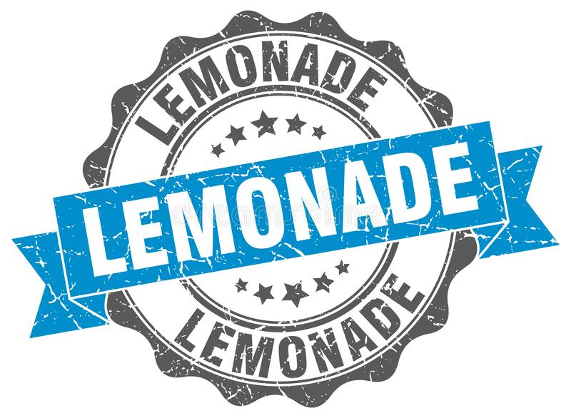 Limonadeverbinding zegel stock illustratie