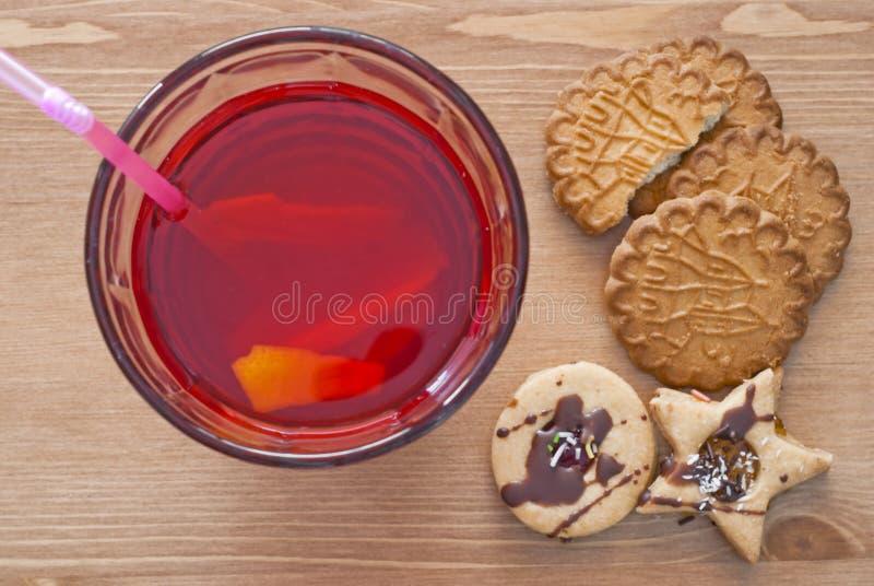 Limonata e biscotti immagini stock libere da diritti