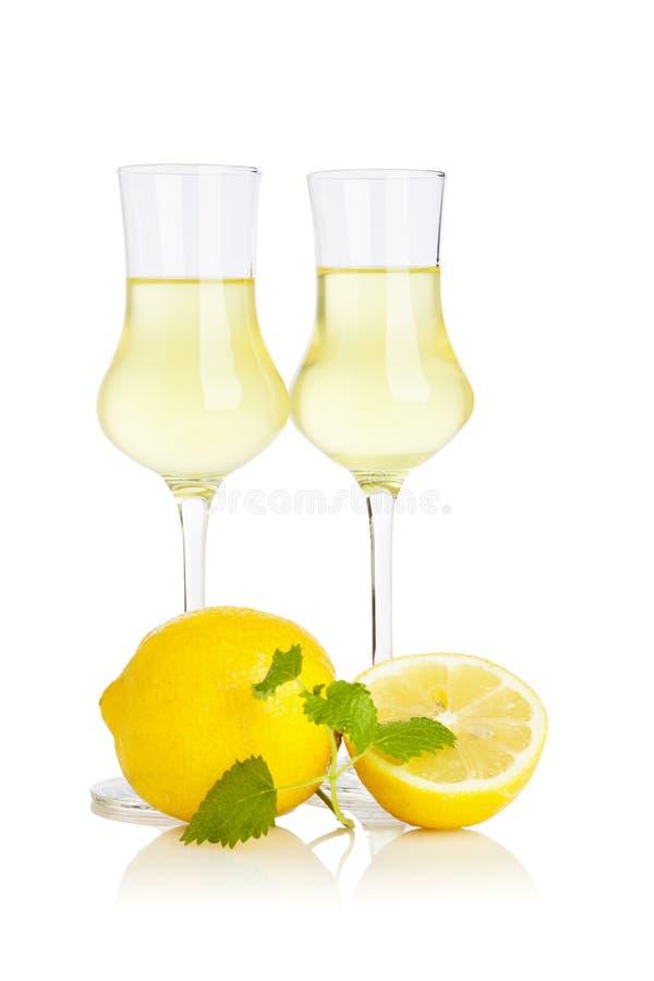 Limoncello酒 免版税库存图片