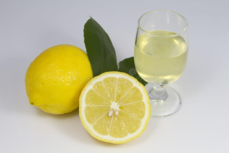 Limoncello 免版税库存图片
