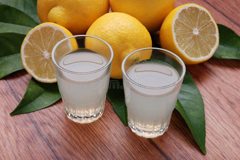 Limoncello, Italian liqueur stock image
