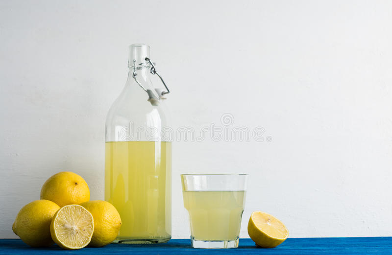 Limoncello. Tradtitional italian beverage. stock images