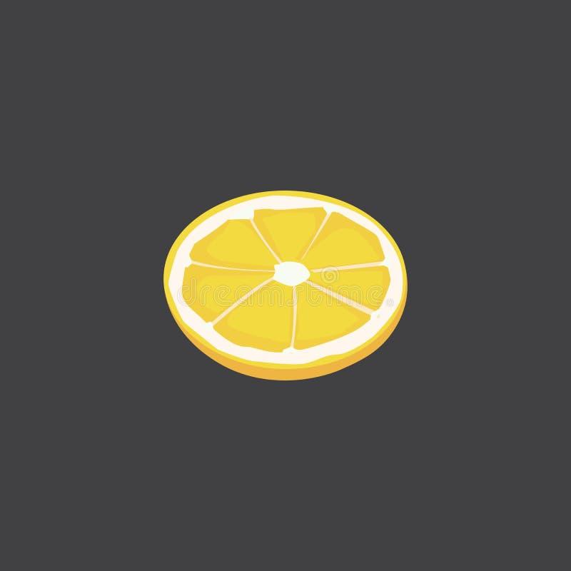 Limone affettato degli agrumi Pezzo di Vresh di vettore illustrazione vettoriale