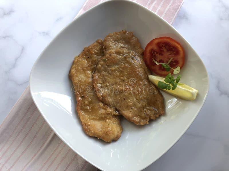 Limone Al Scaloppine Μοσχαρίσιο κρέας escalope στοκ φωτογραφίες