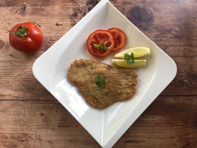 Limone Al Scaloppine Μοσχαρίσιο κρέας escalope στοκ εικόνες με δικαίωμα ελεύθερης χρήσης