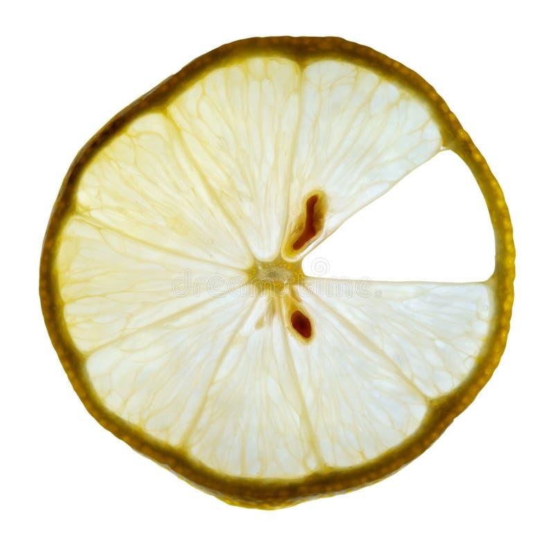 Limone all'indicatore luminoso fotografia stock