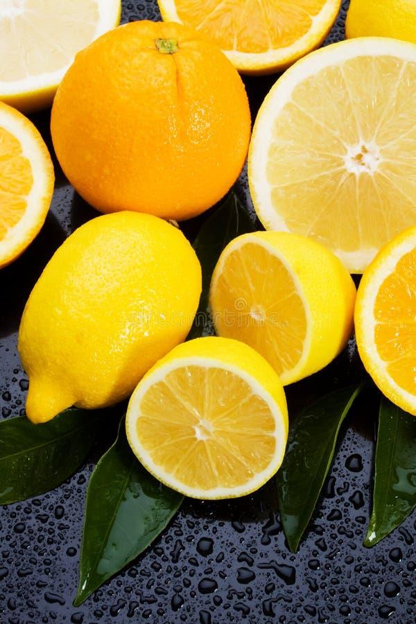 Limone, arancio e pompelmo fotografie stock libere da diritti