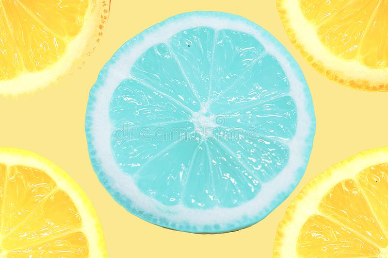 Limone blu fotografie stock