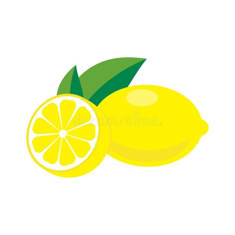 Limone con i fogli royalty illustrazione gratis