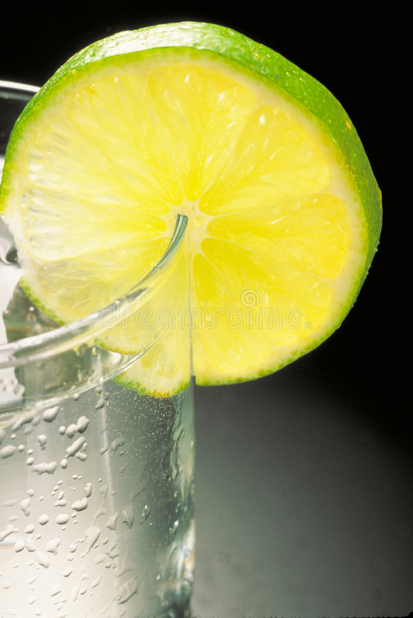 Limone della vodka fotografia stock libera da diritti