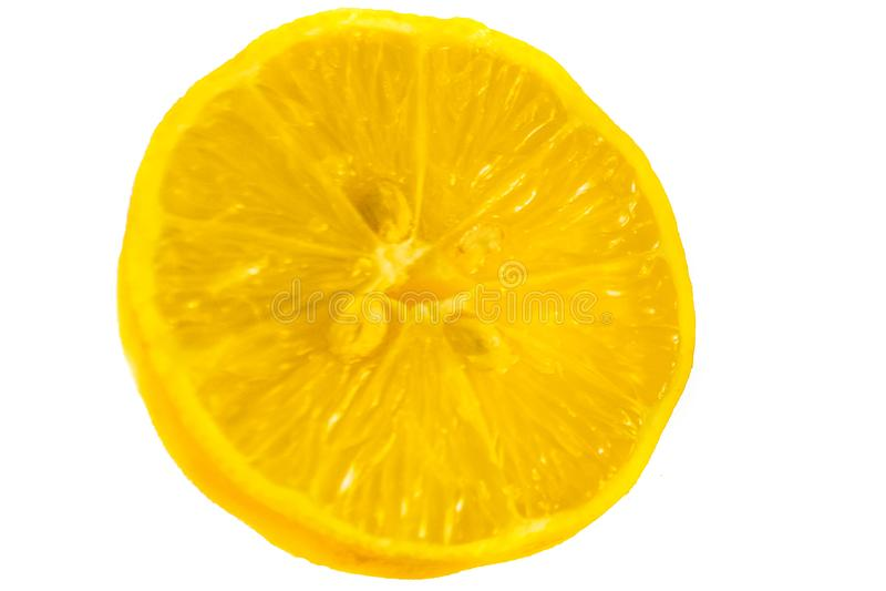 Limone di Juisy su un fondo bianco immagini stock