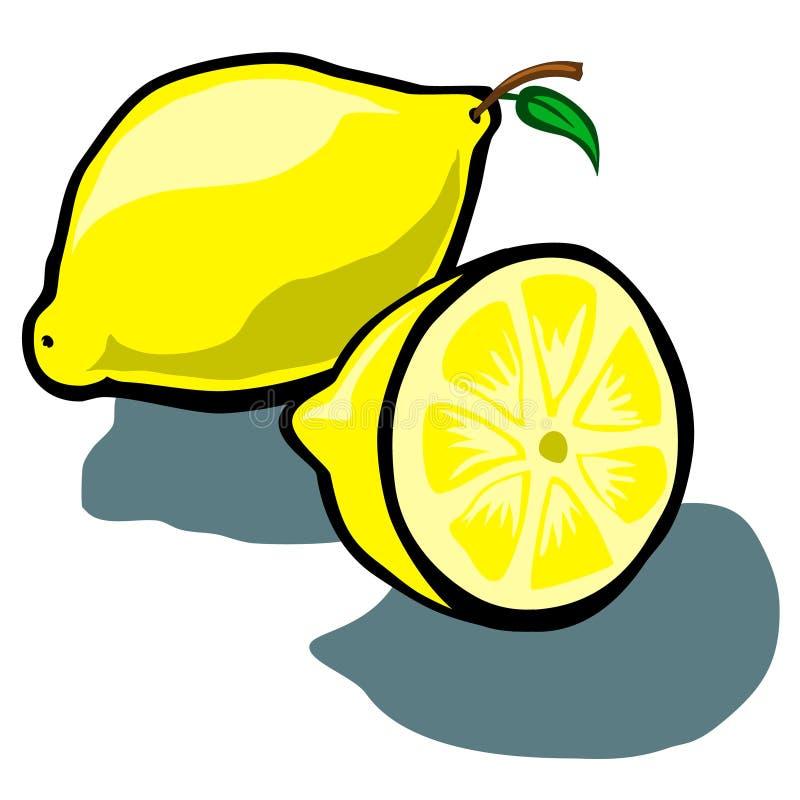 Limone e fetta illustrazione vettoriale