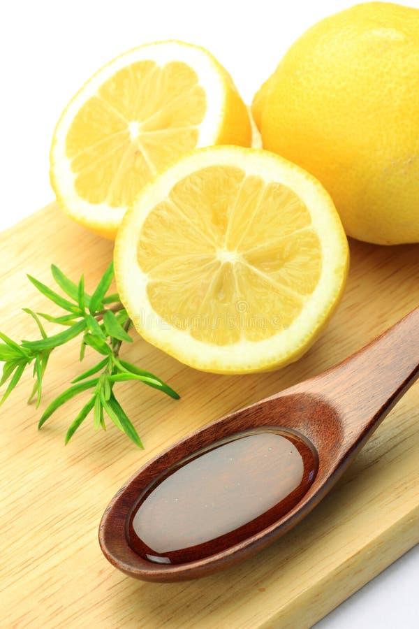 Limone e miele fotografia stock