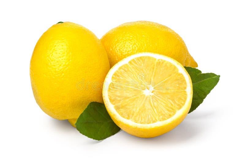 Limone isolato su bianco immagini stock