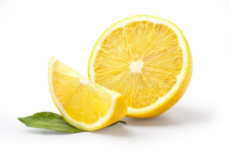 Limone isolato su bianco immagine stock