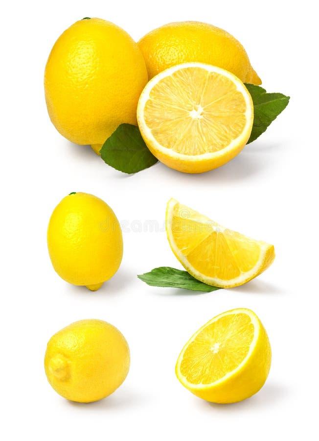 Limone isolato su bianco fotografie stock libere da diritti