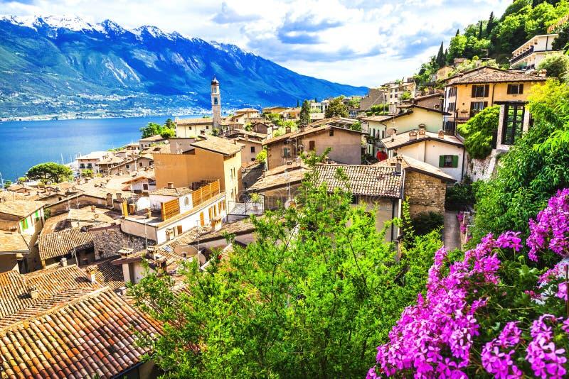 Limone - Lago di Garda. Limone - beautiful town in Lago di Garda, Italy north stock images