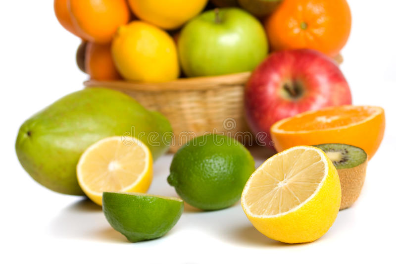 Limone, limetta e l'altra frutta fotografia stock libera da diritti