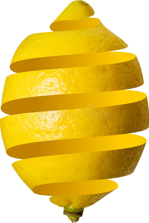 Limone sbucciato royalty illustrazione gratis