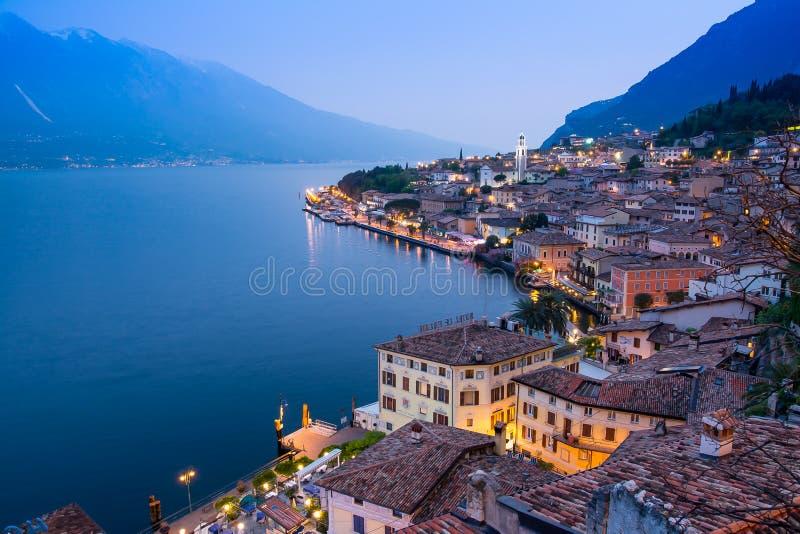 Limone sul Garda, jeziorny Garda, Włochy obraz royalty free