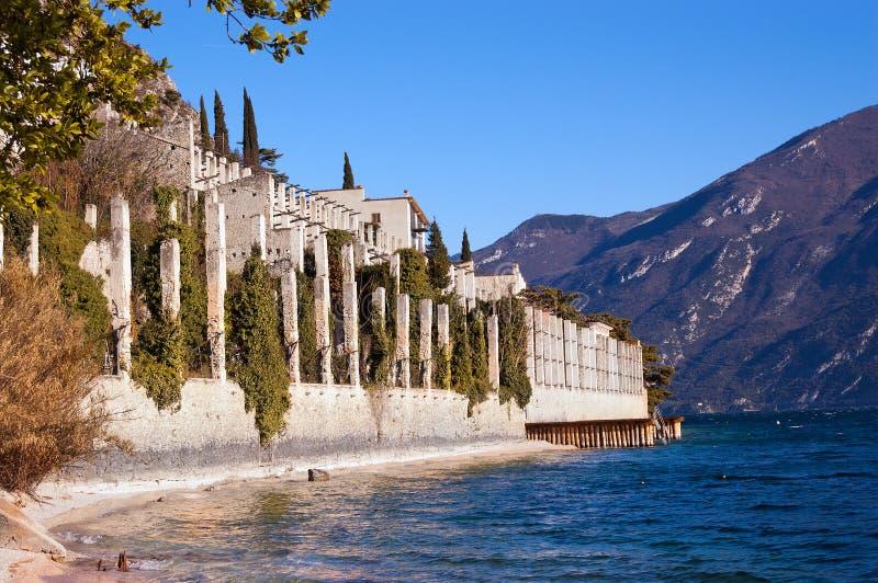Limone sul Garda, Lombardy - Włochy zdjęcia stock