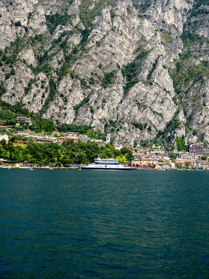Limone is one of the lovely small towns on this lake in Northern Italy. Lake Garda is a popular European tourist destination. Limone sul Garda is a town and stock photography