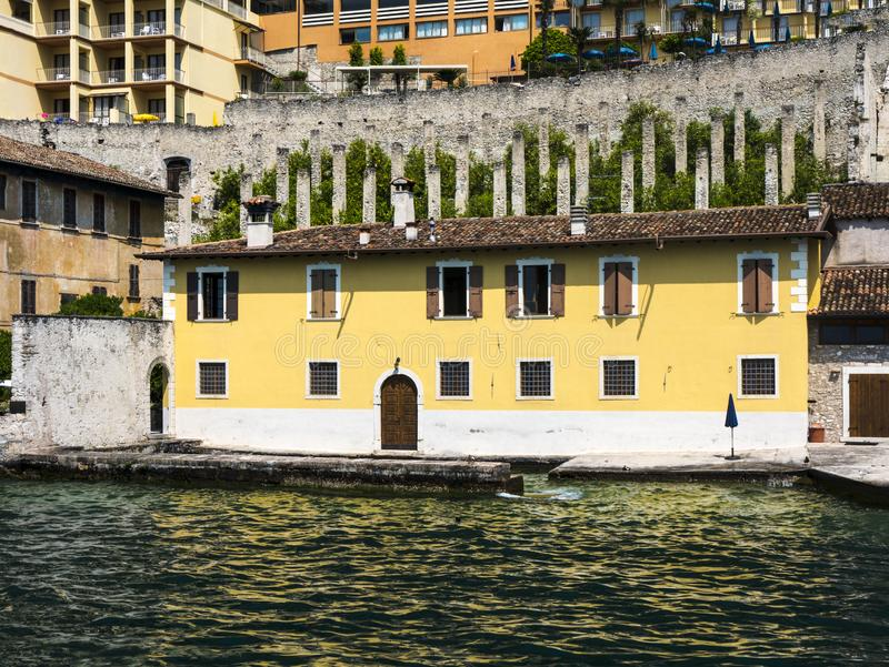Limone is one of the lovely small towns on this lake in Northern Italy. Lake Garda is a popular European tourist destination. Limone sul Garda is a town and royalty free stock images