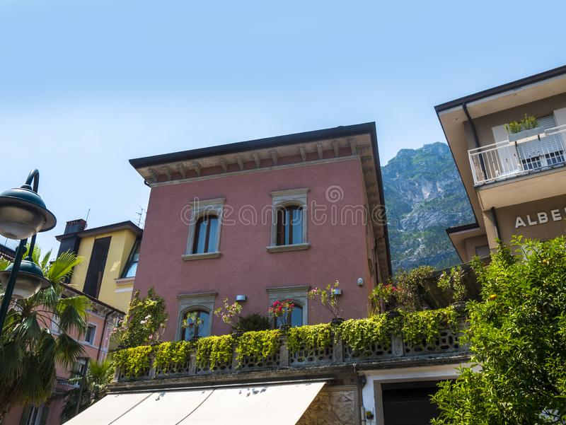 Limone is one of the lovely small towns on this lake in Northern Italy. Lake Garda is a popular European tourist destination. Limone sul Garda is a town and stock image
