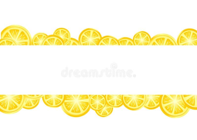 Limones amarillos con el lugar para su texto libre illustration