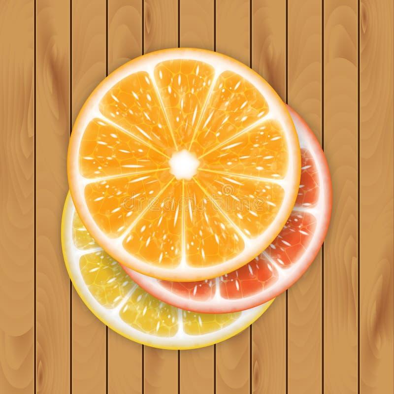 Limones y cal ilustración del vector