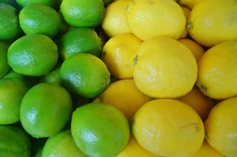 Download Limones y cales imagen de archivo. Imagen de citrus, paralelo - 1285119