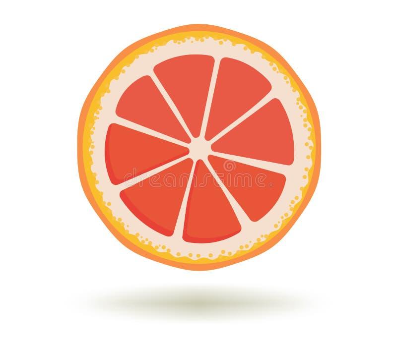 Limoni e limetta Vitamina C Illustrazione di vettore della fetta succosa matura fresca luminosa del pompelmo con un'ombra isolata illustrazione vettoriale