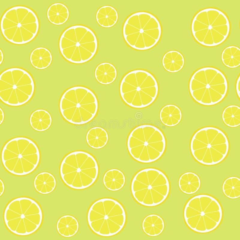 Limoni senza cuciture del modello con la metà fotografia stock