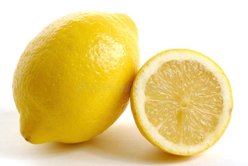 Limoni sulla zona bianca fotografia stock libera da diritti