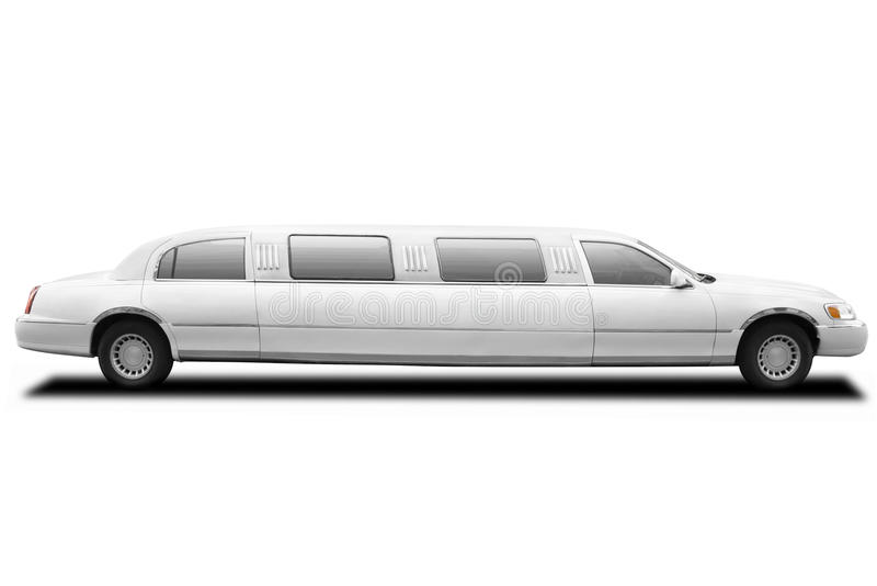 Limousine. Isolated on white, clipping path included royalty free stock photography