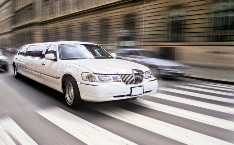 Limousine. Long car limousine speedy Paris stock images