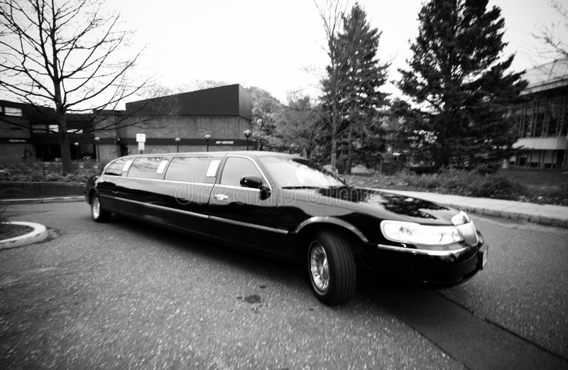 Limousine. Black Limousine at a wedding royalty free stock photo