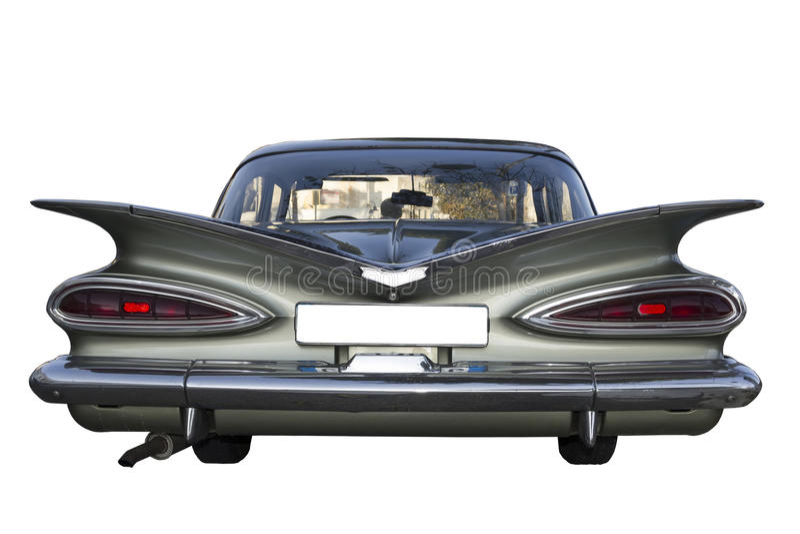 Limousine américaine d'automobile de voiture de Retrò photo libre de droits
