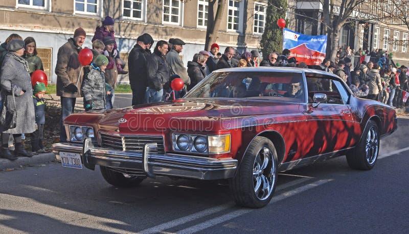 Limousine américaine sur la rue photos stock
