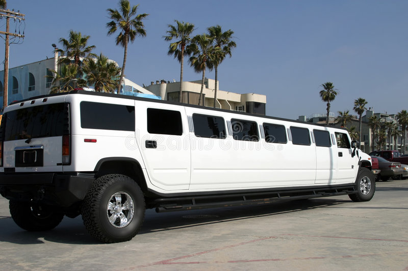 Limousine blanche photos stock