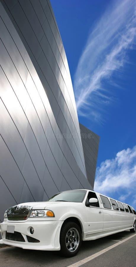 Limousine blanche photographie stock libre de droits