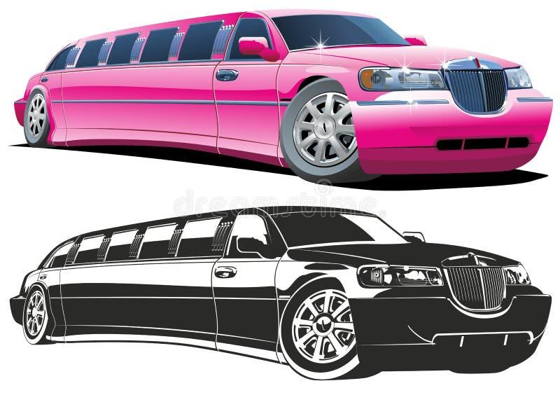 Limousine de dessin animé de vecteur illustration de vecteur