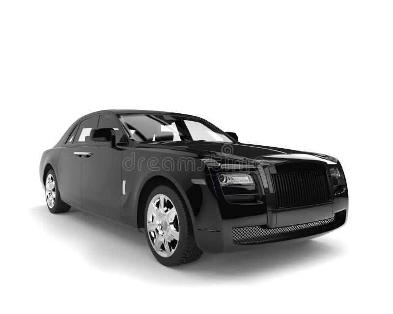 Limousine de luxe moderne d'affaires de noir de jais illustration libre de droits