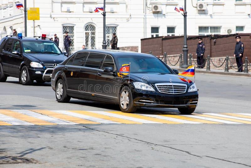 Limousine du secrétaire General du People's Democratic république de Corée photo libre de droits