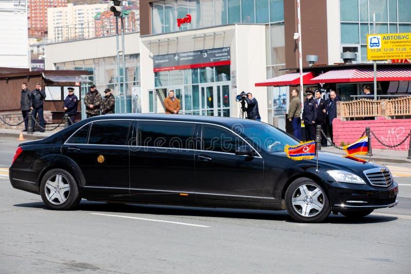 Limousine du secrétaire General du People's Democratic république de Corée photographie stock libre de droits