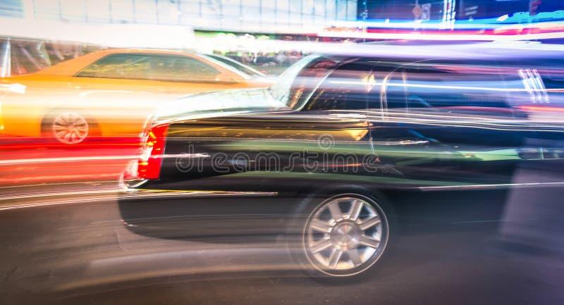 Limousine et taxi expédiant à New York City image libre de droits