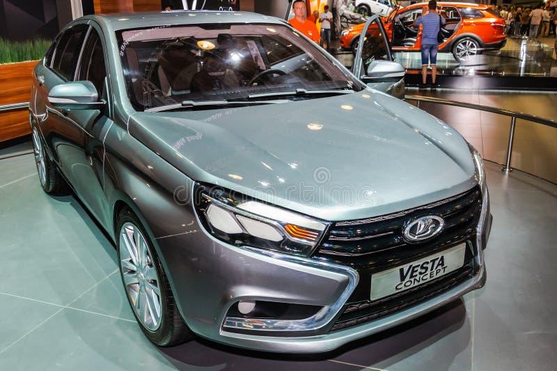 Limousine Lada Vesta Concept stockbilder