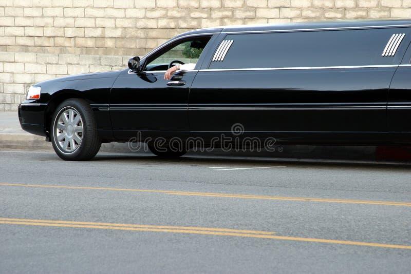 Limousine nere immagini stock libere da diritti