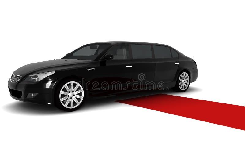 Limousine noire illustration de vecteur